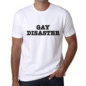Mens Graphic T-Shirt LGBT Gay Disaster White - White / XS / Cotton - T-Shirt