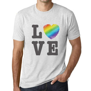 Mens Graphic T-Shirt LGBT Love Vintage White - Vintage White / XS / Cotton - T-Shirt
