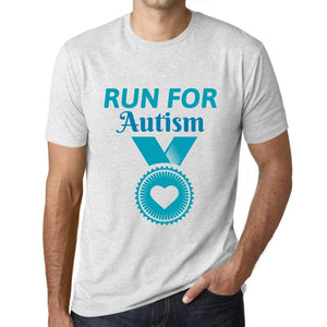 Mens Graphic T-Shirt Run for Autism Vintage White - Vintage White / XS / Cotton - T-Shirt