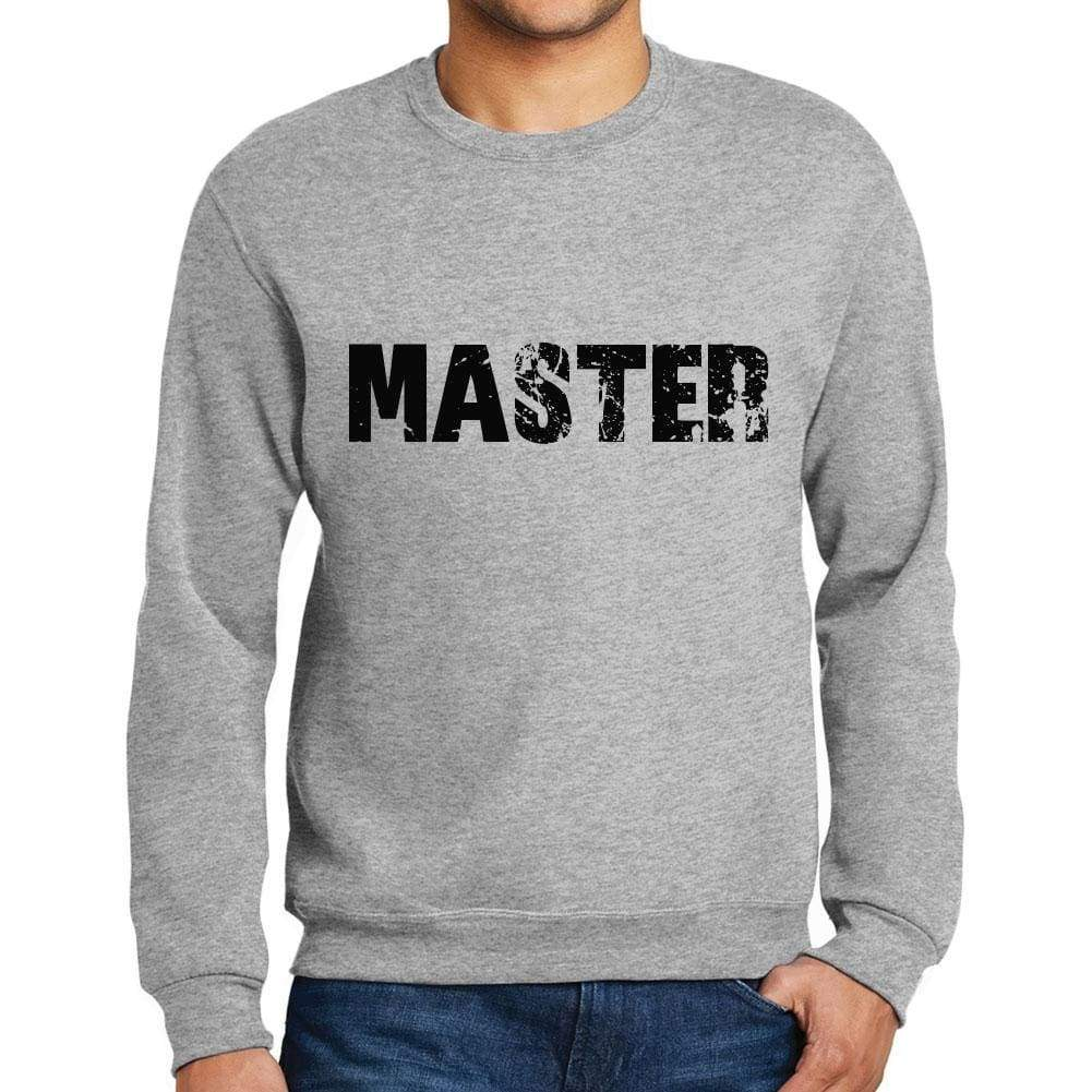 1fb8e5bf62a0 Mens Printed Graphic Sweatshirt Popular Words Master Grey Marl - Grey Marl    Small   Cotton