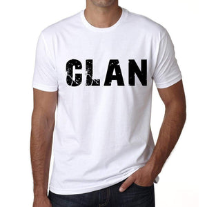 Mens Tee Shirt Vintage T Shirt Clan X-Small White 00560 - White / Xs - Casual