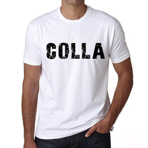 Mens Tee Shirt Vintage T Shirt Colla X-Small White 00561 - White / Xs - Casual