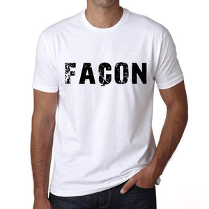Mens Tee Shirt Vintage T Shirt Façon X-Small White 00561 - White / Xs - Casual