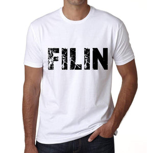 Mens Tee Shirt Vintage T Shirt Filin X-Small White 00561 - White / Xs - Casual