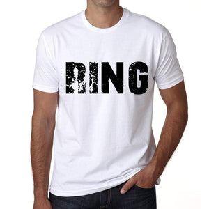 Mens Tee Shirt Vintage T Shirt Ring X-Small White 00560 - White / Xs - Casual