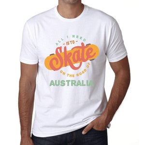 Mens Vintage Tee Shirt Graphic T Shirt Australia White - White / Xs / Cotton - T-Shirt