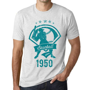 Mens Vintage Tee Shirt Graphic T Shirt Baseball Since 1950 Vintage White - Vintage White / Xs / Cotton - T-Shirt