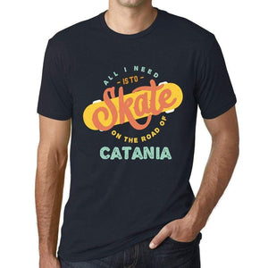 Mens Vintage Tee Shirt Graphic T Shirt Catania Navy - Navy / Xs / Cotton - T-Shirt