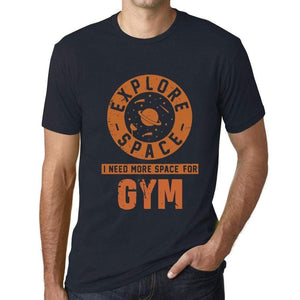 Mens Vintage Tee Shirt Graphic T Shirt I Need More Space For Gym Navy - Navy / Xs / Cotton - T-Shirt