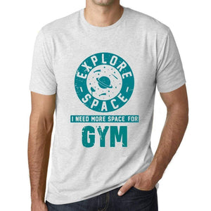 Mens Vintage Tee Shirt Graphic T Shirt I Need More Space For Gym Vintage White - Vintage White / Xs / Cotton - T-Shirt