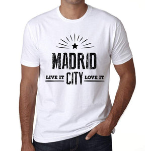 Mens Vintage Tee Shirt Graphic T Shirt Live It Love It Madrid White - White / Xs / Cotton - T-Shirt