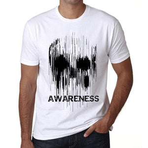 Mens Vintage Tee Shirt Graphic T Shirt Skull Awareness White - White / Xs / Cotton - T-Shirt