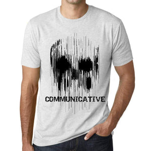 Mens Vintage Tee Shirt Graphic T Shirt Skull Communicative Vintage White - Vintage White / Xs / Cotton - T-Shirt