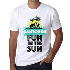 Mens Vintage Tee Shirt Graphic T Shirt Summer Dance Santorini White - White / Xs / Cotton - T-Shirt