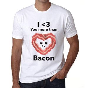 Mens Vintage Tee Shirt Graphic T Shirt Valentine Bacon - White / Xs / Cotton - T-Shirt
