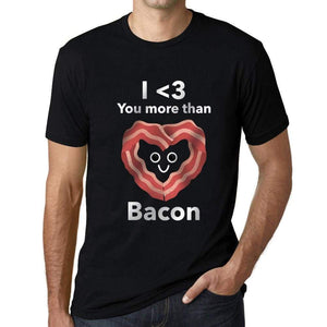 Mens Vintage Tee Shirt Graphic T Shirt Valentine Bacon - Deep Black / Xs / Cotton - T-Shirt