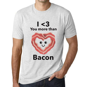 Mens Vintage Tee Shirt Graphic T Shirt Valentine Bacon - Vintage White / Xs / Cotton - T-Shirt