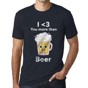 Mens Vintage Tee Shirt Graphic T Shirt Valentine Beer - Navy / Xs / Cotton - T-Shirt