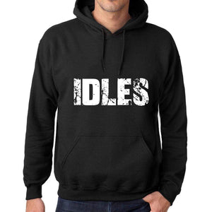 Mens Womens Unisex Printed Graphic Cotton Hoodie Soft Heavyweight Hooded Sweatshirt Pullover Popular Words Idles Deep Black - Black / Xs /