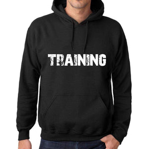 Mens Womens Unisex Printed Graphic Cotton Hoodie Soft Heavyweight Hooded Sweatshirt Pullover Popular Words Training Deep Black - Black / Xs