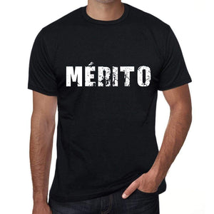 Mérito Mens T Shirt Black Birthday Gift 00550 - Black / Xs - Casual