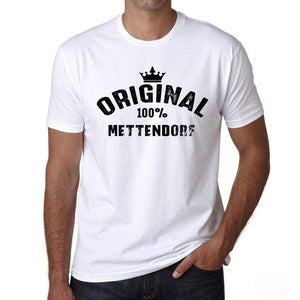 Mettendorf 100% German City White Mens Short Sleeve Round Neck T-Shirt 00001 - Casual