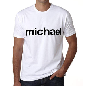 Michael Tshirt Mens Short Sleeve Round Neck T-Shirt 00050