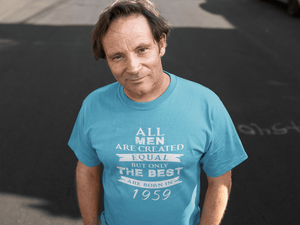 1959, Only the Best are Born in 1959 <span>Men's</span> T-shirt Blue <span>Birthday</span> <span>Gift</span> 00511