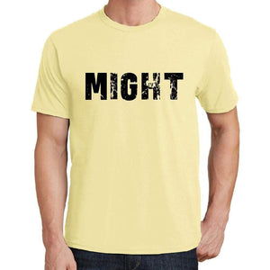 Might Mens Short Sleeve Round Neck T-Shirt 00043 - Yellow / S - Casual