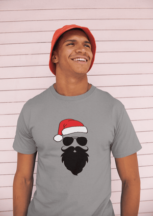 ULTRABASIC - <span>Graphic</span> <span>Men's</span> Funny Santa Cool Christmas T-Shirt <span>Gift</span> Tee <span>Grey Marl</span>