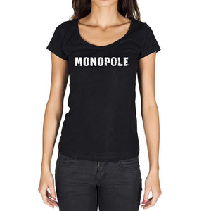 Monopole French Dictionary Womens Short Sleeve Round Neck T-Shirt 00010 - Casual