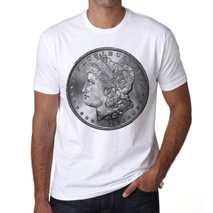 Morgan Dollar Mens Short Sleeve Round Neck T-Shirt