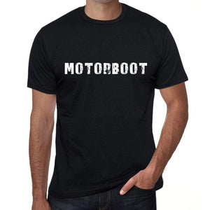 Motorboot Mens T Shirt Black Birthday Gift 00548 - Black / Xs - Casual