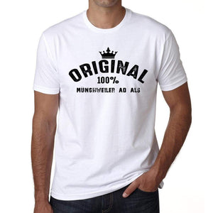 Münchweiler Ad Als 100% German City White Mens Short Sleeve Round Neck T-Shirt 00001 - Casual