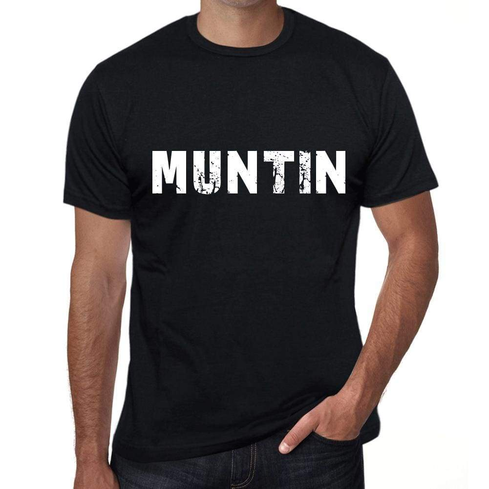 Muntin Mens Vintage T Shirt Black Birthday Gift 00554 - Black / Xs - Casual