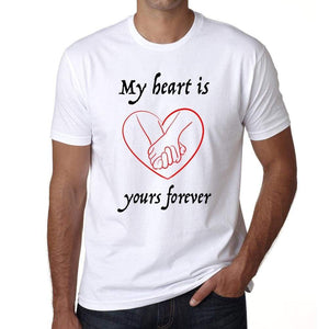 My Heart Is Yours Forever Mens Short Sleeve Round Neck T-Shirt - Shirts