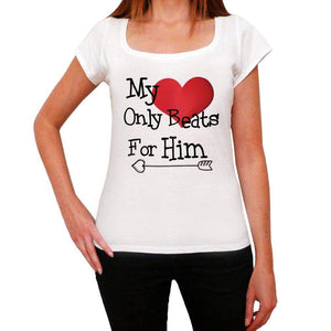 My Heart Only Beats For Him Womens Short Sleeve T-Shirt - Shirts