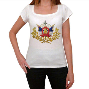 National emblem of France 2 <span>Women's</span> <span><span>Short Sleeve</span></span> Scoop Neck Tee 00171 - ULTRABASIC