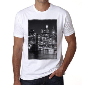 New York 2 Mens Short Sleeve Round Neck T-Shirt