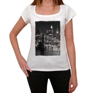 New York 2 Womens Short Sleeve Round Neck T-Shirt 00111