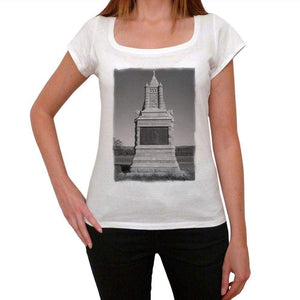 New York Cavalry Monument Womens Short Sleeve Round Neck T-Shirt 00111