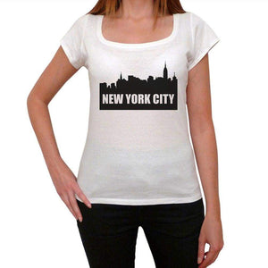 New York City 1 Womens Short Sleeve Round Neck T-Shirt 00111