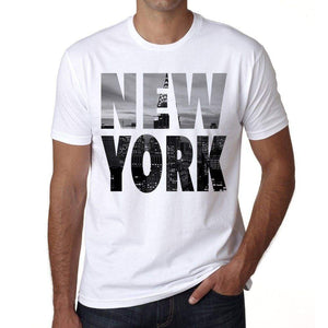 New York Mens Short Sleeve Round Neck T-Shirt