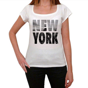 New York Womens Short Sleeve Round Neck T-Shirt 00111