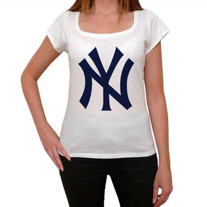 New York Yankees Womens Short Sleeve Round Neck T-Shirt 00111