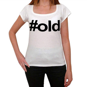 Old Hashtag Womens Short Sleeve Scoop Neck Tee 00075