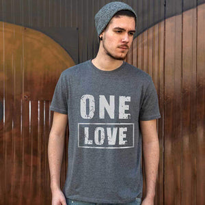 One Love Mens Vintage Tee Shirt Graphic T Shirt
