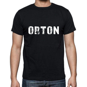 Orton Mens Short Sleeve Round Neck T-Shirt 5 Letters Black Word 00006 - Casual