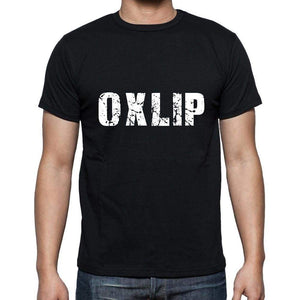 Oxlip Mens Short Sleeve Round Neck T-Shirt 5 Letters Black Word 00006 - Casual