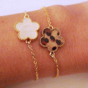 Panther Flower Gold Chain Bracelet